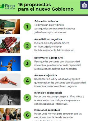 16 propuestas